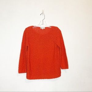 Crochet Orange Nordstrom Collection Sweater